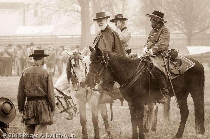 Lee prepares his troops for surrender