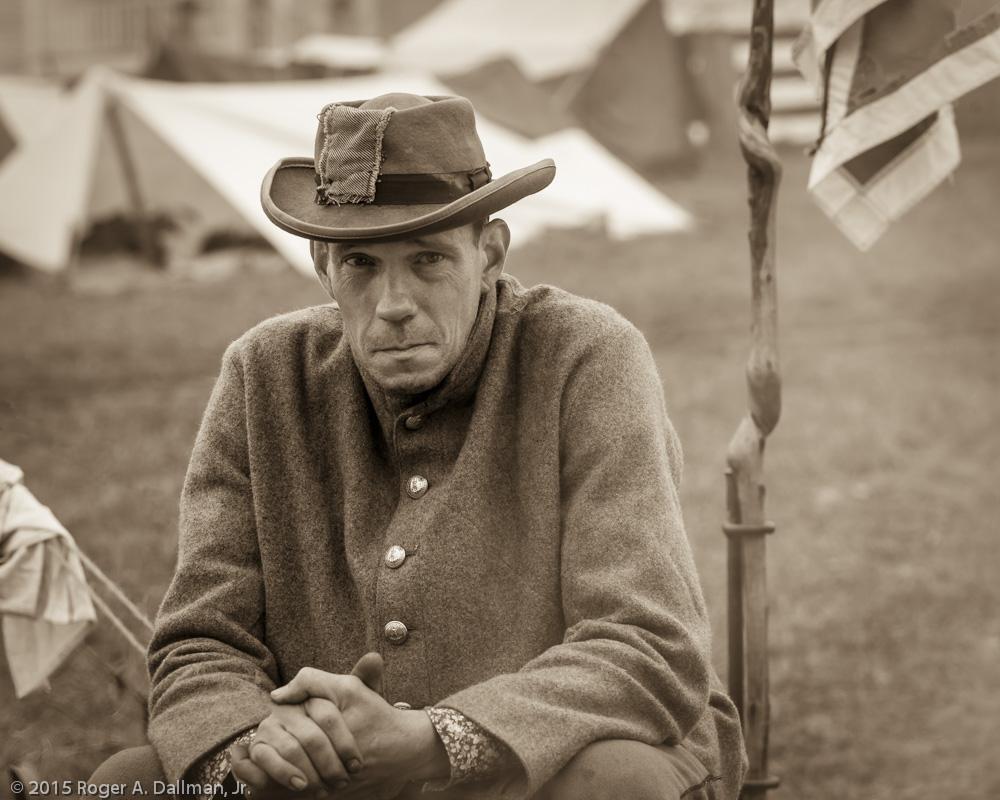 Despondent Confederate camp