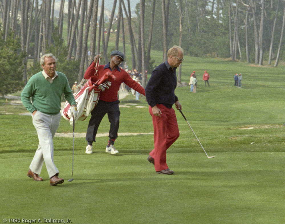 President Ford and Arnold Palmer