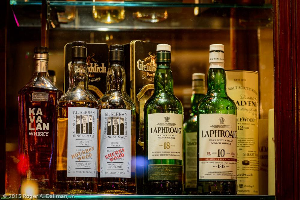 Tripods help in a dark bar