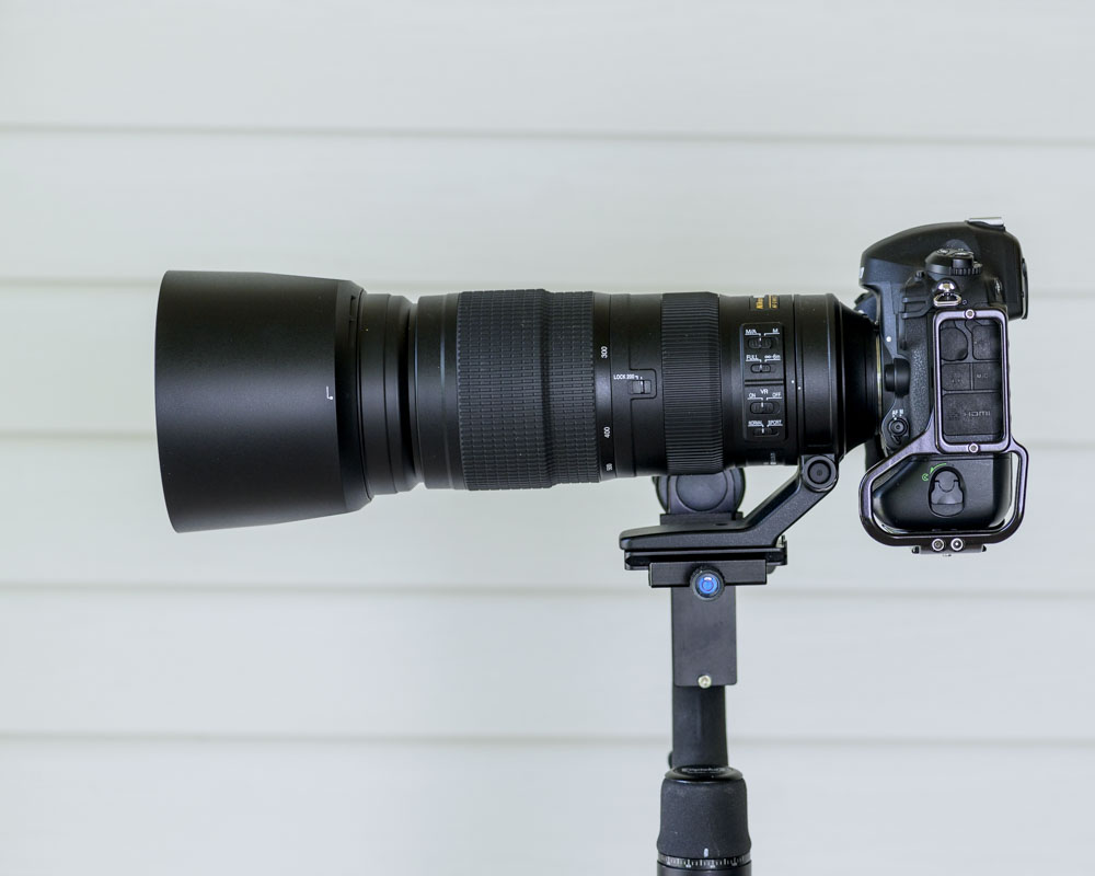Gimbal head with a 5 pound lens