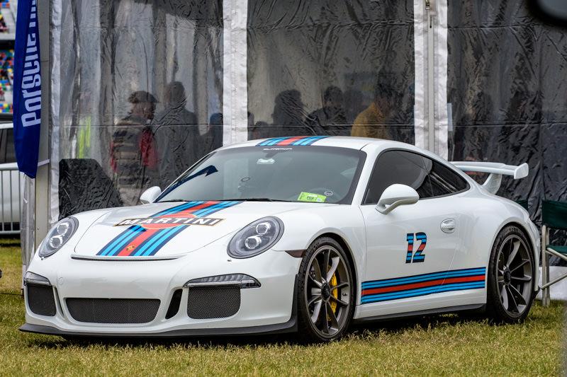 Martini Porsche, at the PCA tent