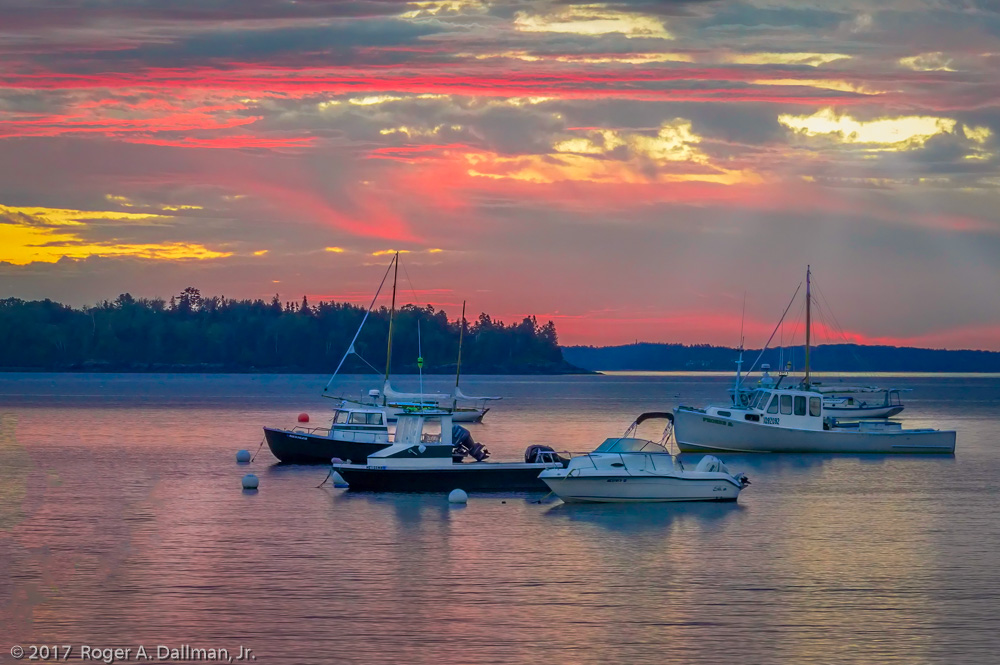 Sunrise in Lincolnville, Maine