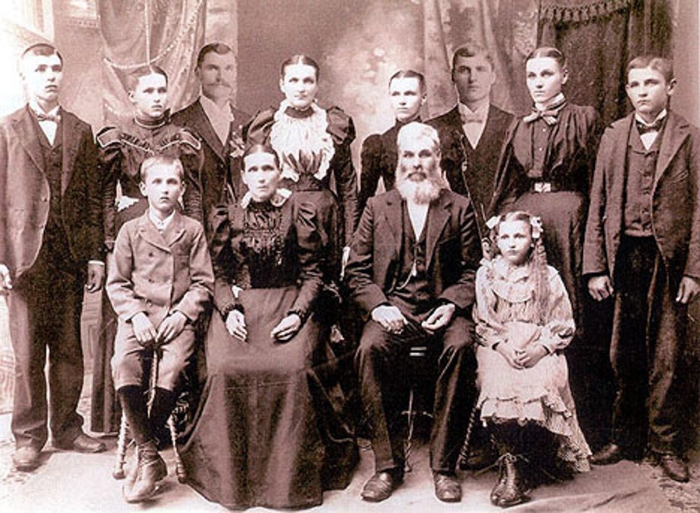 My great-grandfather and great-great-grandparents are in this photo.
