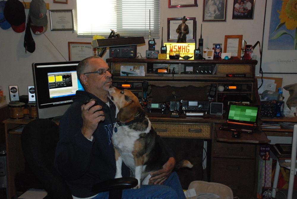 Sammy and I on the radio.