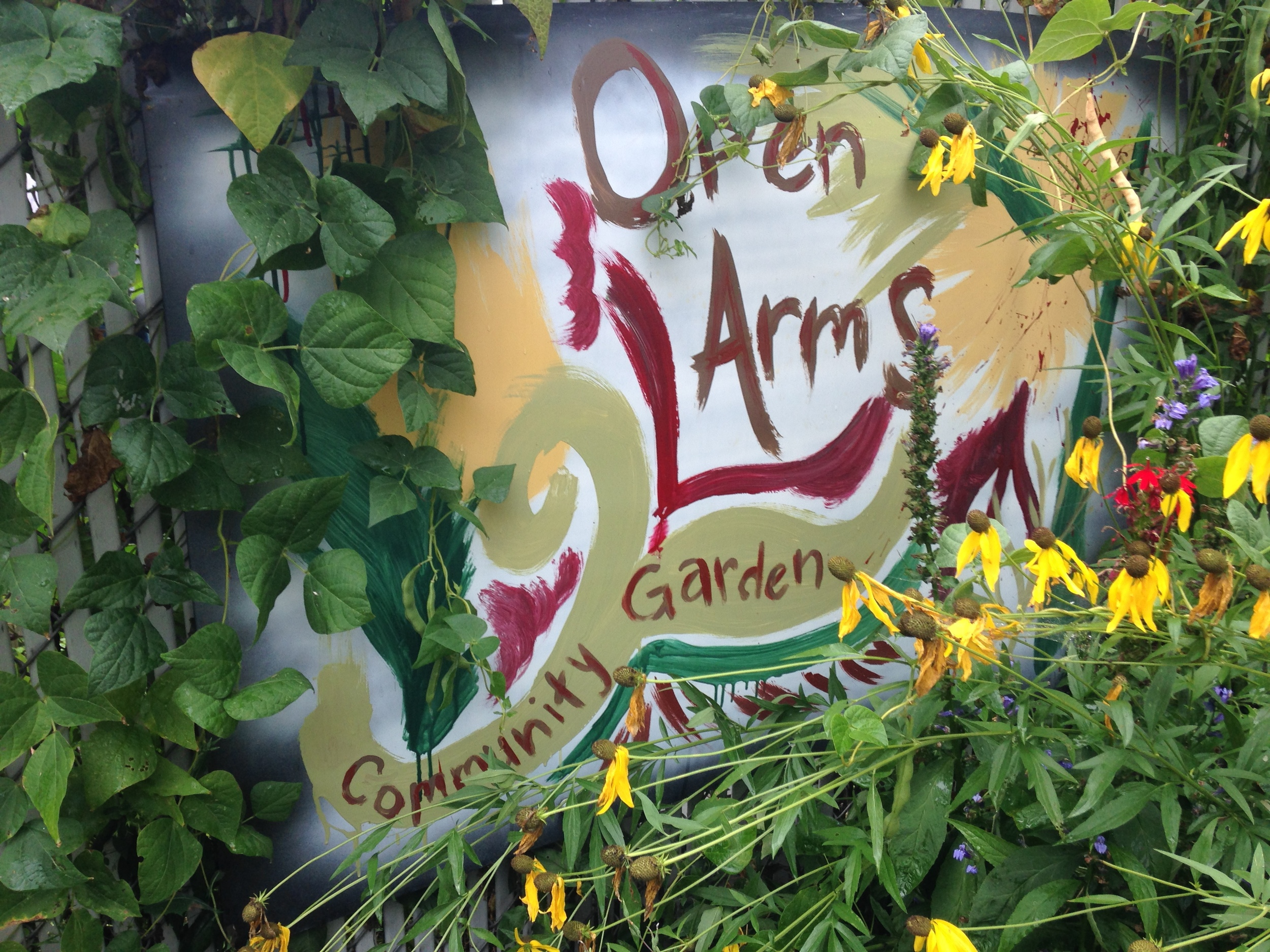 Open Arms Farm Sign