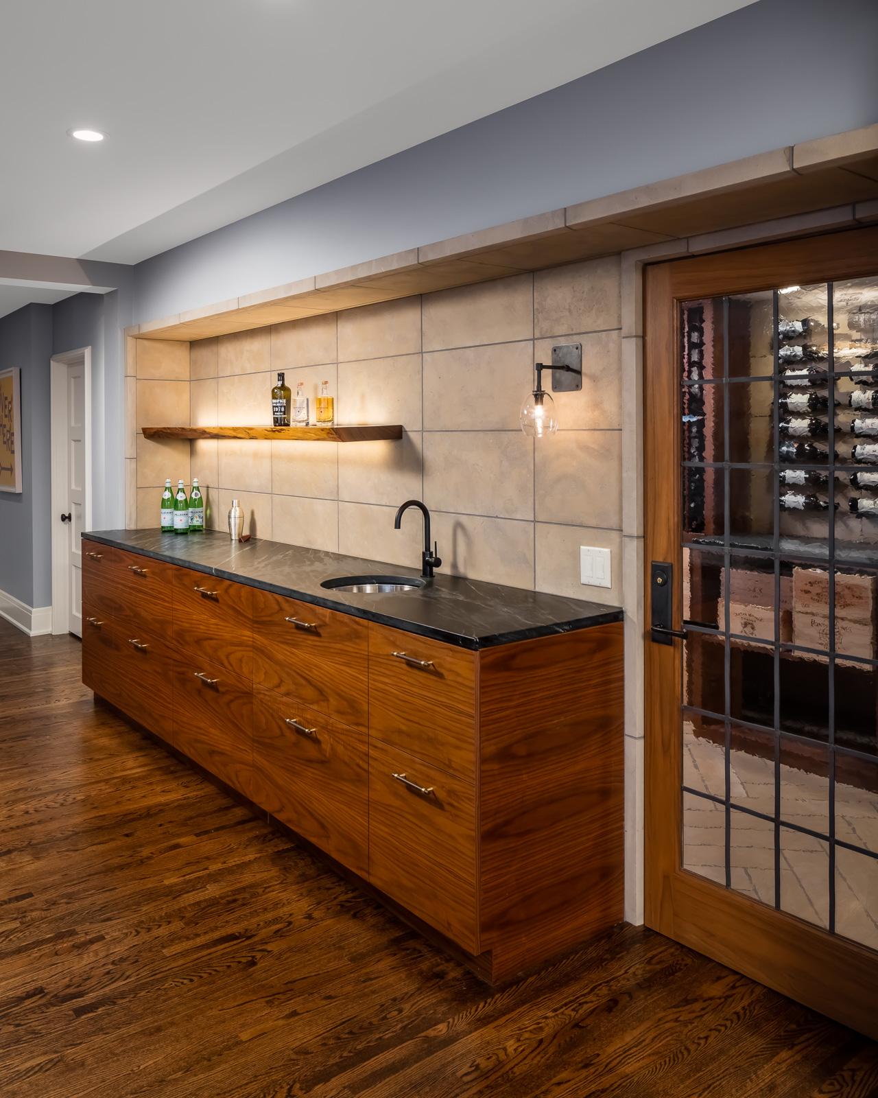 Bar installed / Entrance into wine cellar