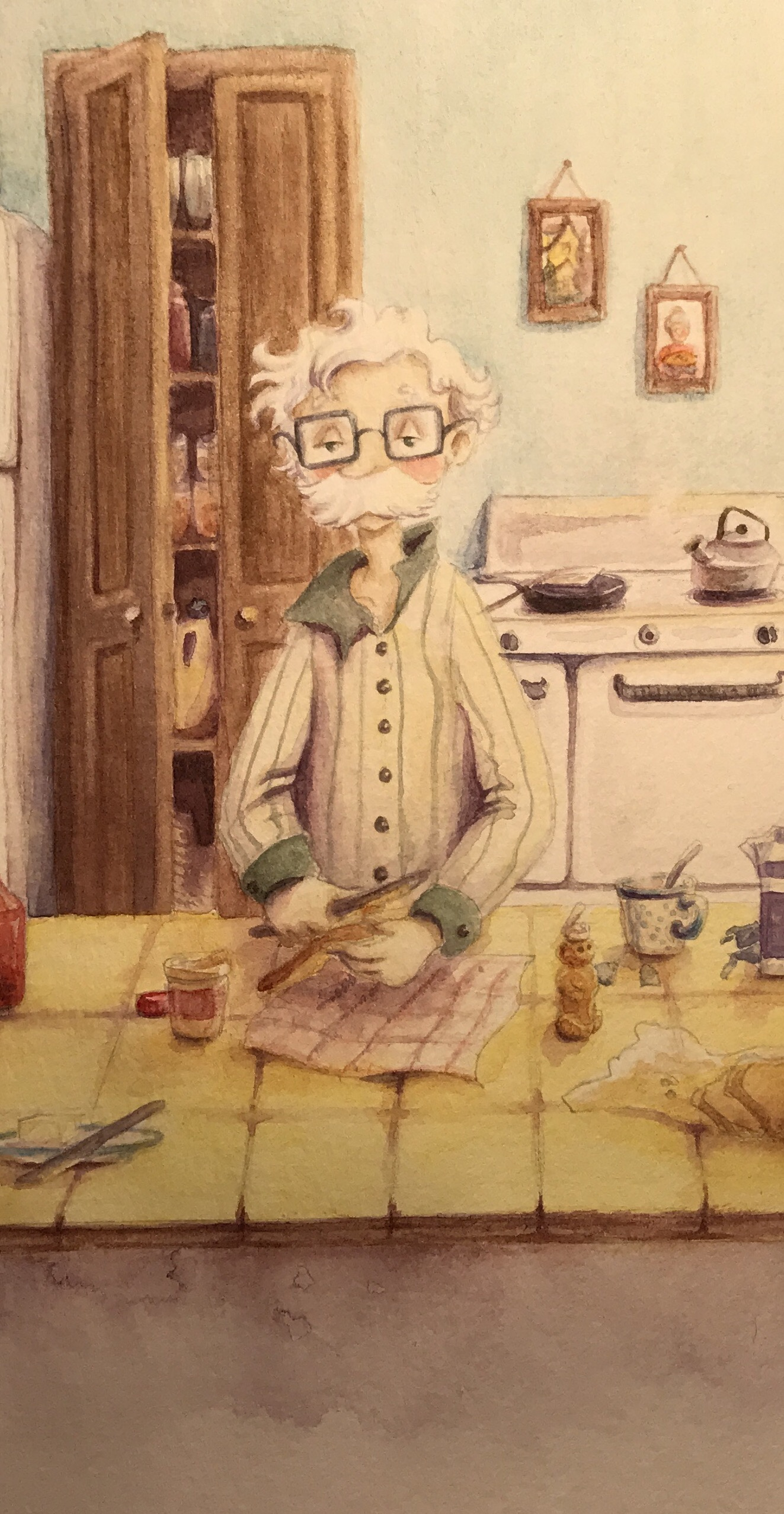 Interior artwork from  Iver and Ellsworth  by Casey Robinson and illustrated by Melissa Larson
