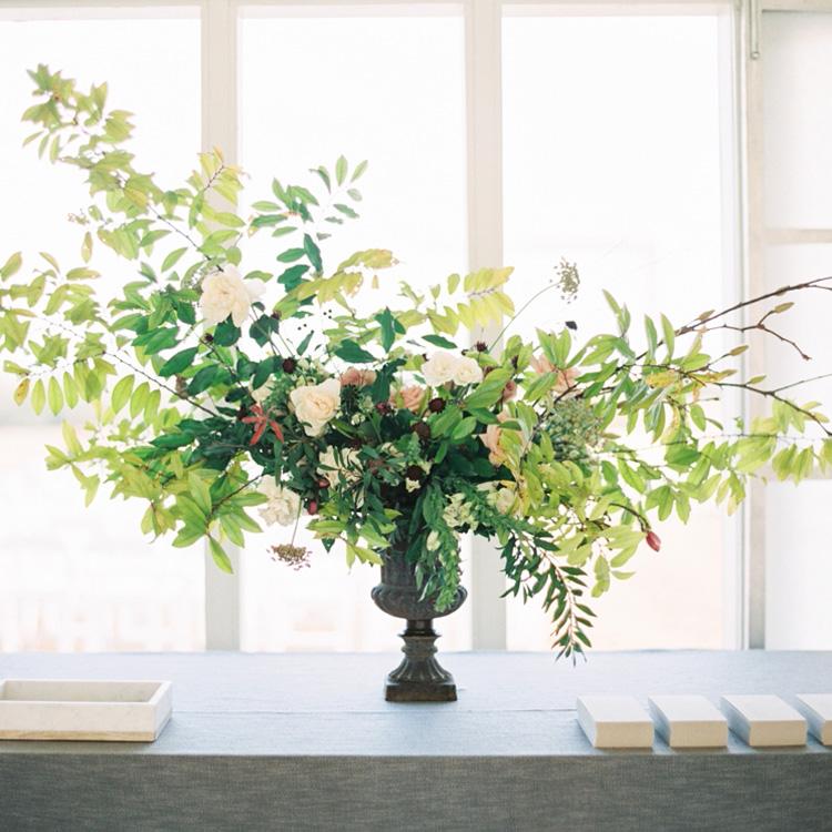 Winter Urn Arrangement by Sprout Floral Design