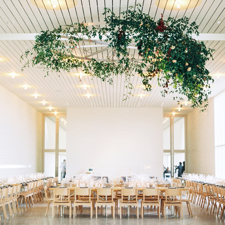 Installation of Smilax and Florals by Sprout Floral Design