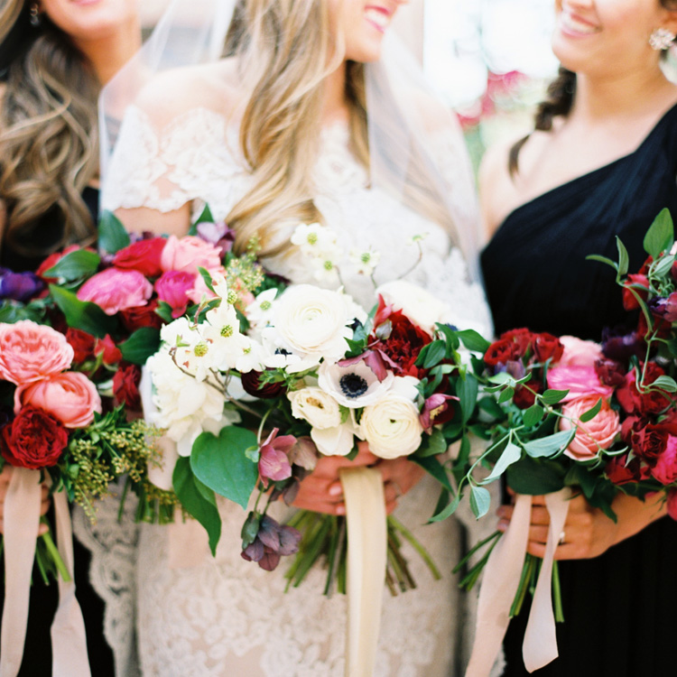 Colorful Bridesmaid Bouquets by Sprout Floral Design