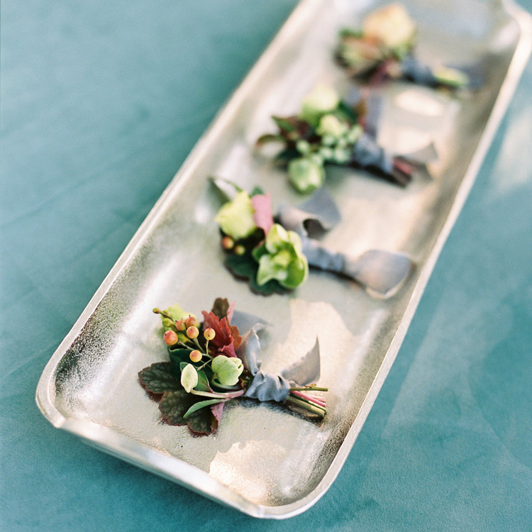 Fall Boutonnieres by Sprout Floral Design