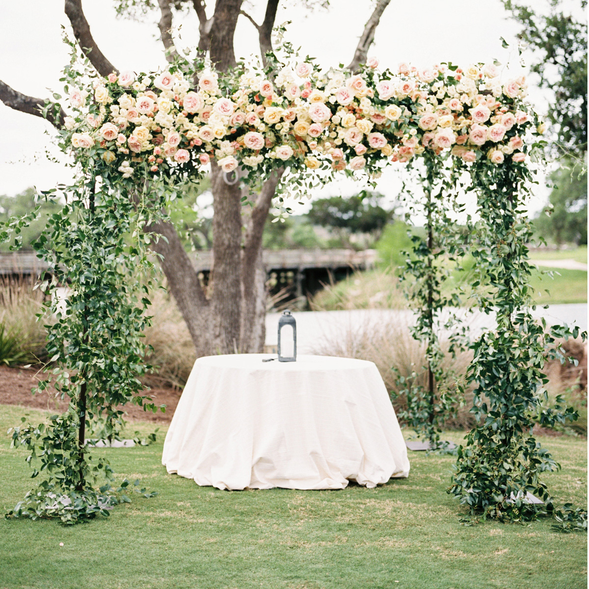Lush Spring Chuppah by Sprout Floral Design