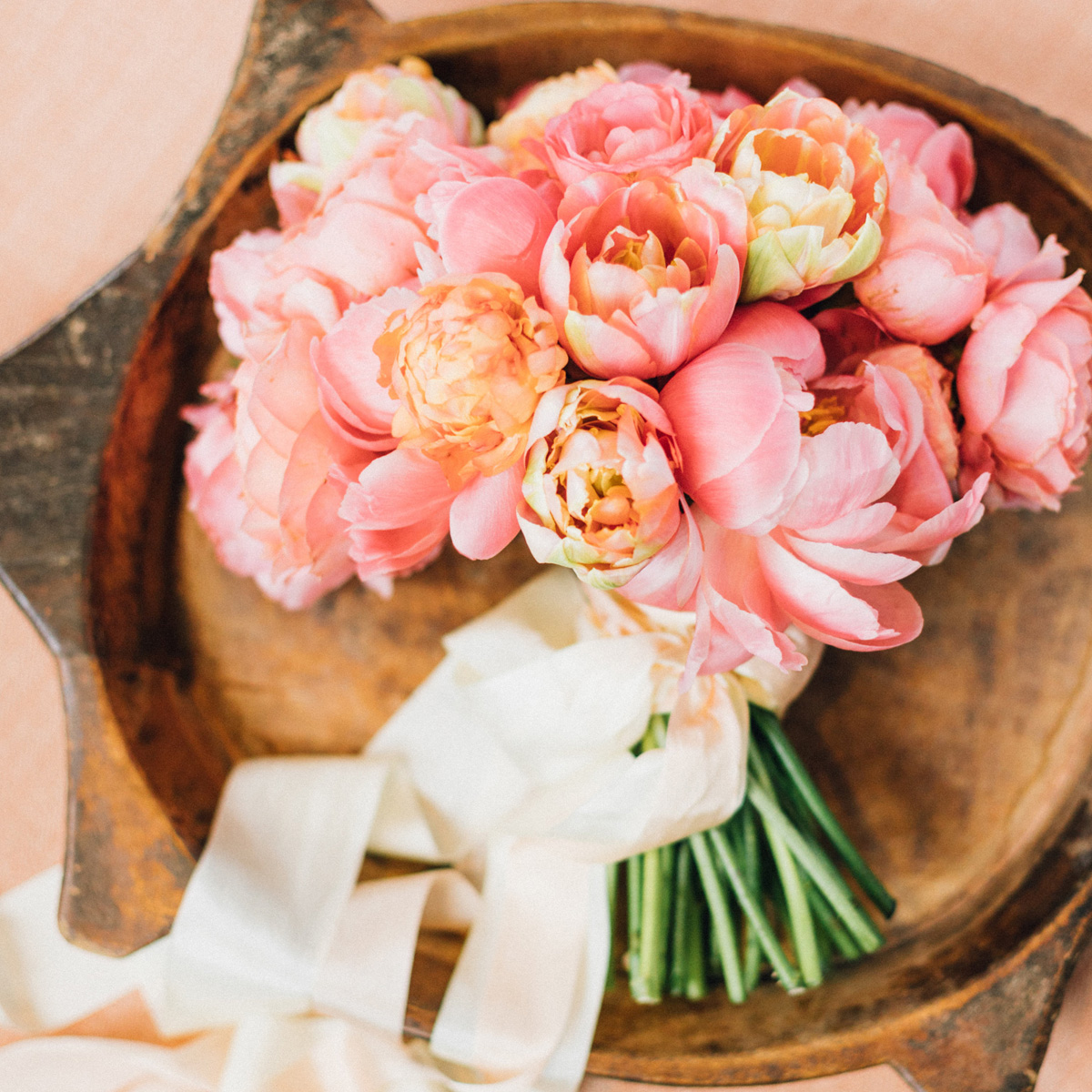 Pink Peony, Garden Rose and Tulip Bouquet by Sprout Floral Design