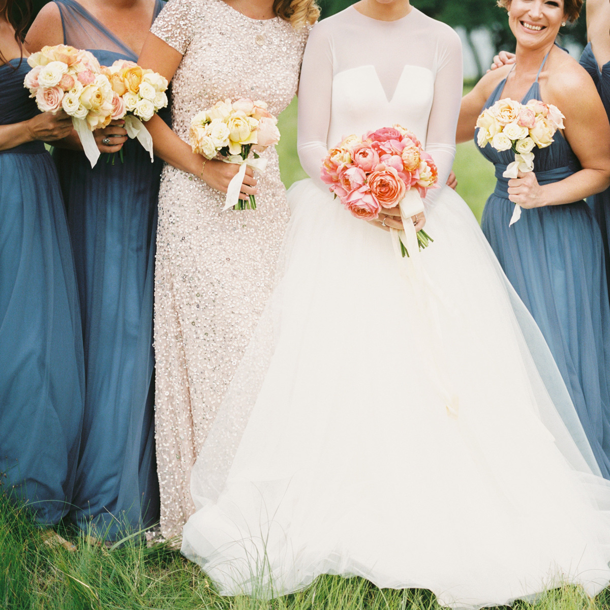 Spring Bridesmaid Bouquets by Sprout Floral Design