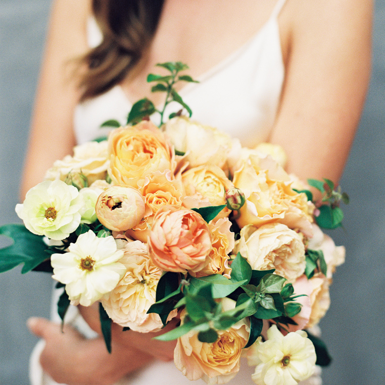 Spring Garden Rose and Ranunculus Bouquet by Sprout Floral Design