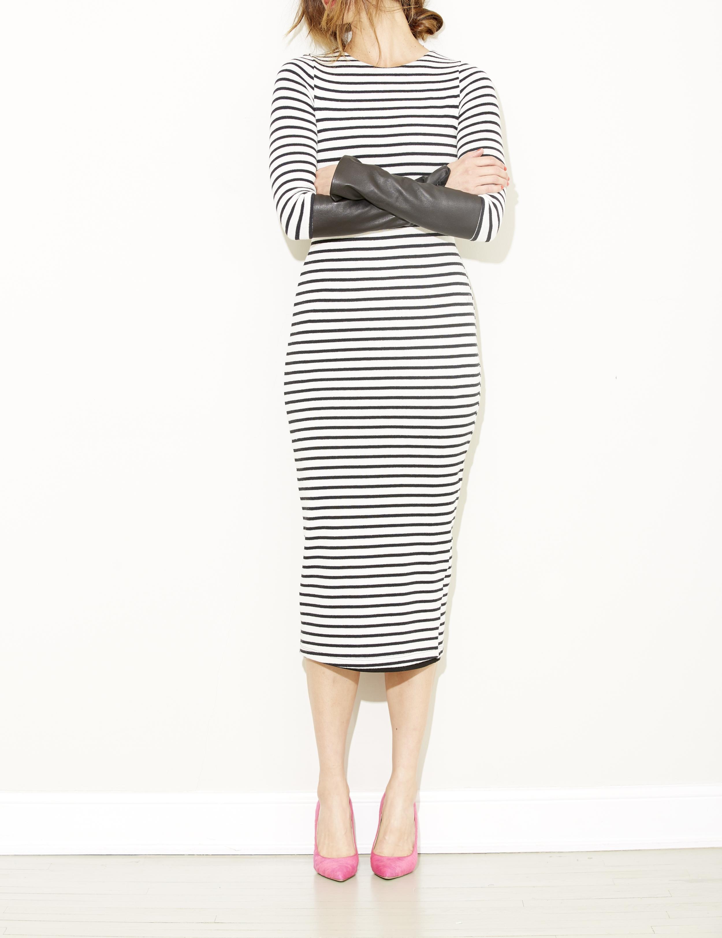 stripe + leather