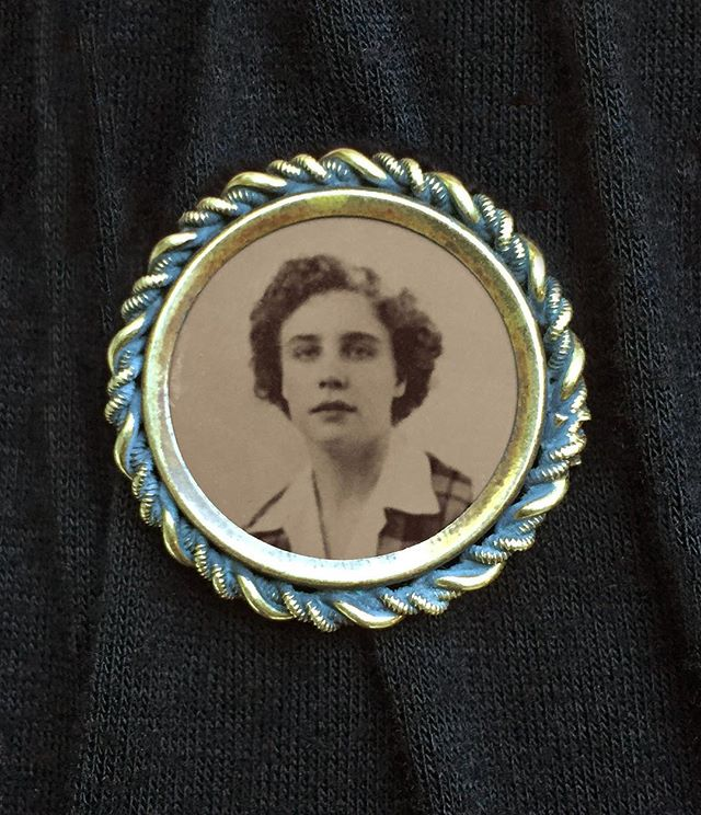 Refit two Victorian mourning brooches from @penumbratintypestudio with the new tintypes I made of my Grandma. One for my Mom and one for my Aunt Lisa.