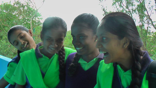 From the left Chaithra, Ramya, Maria and Sowmya being giggly 16 year olds!