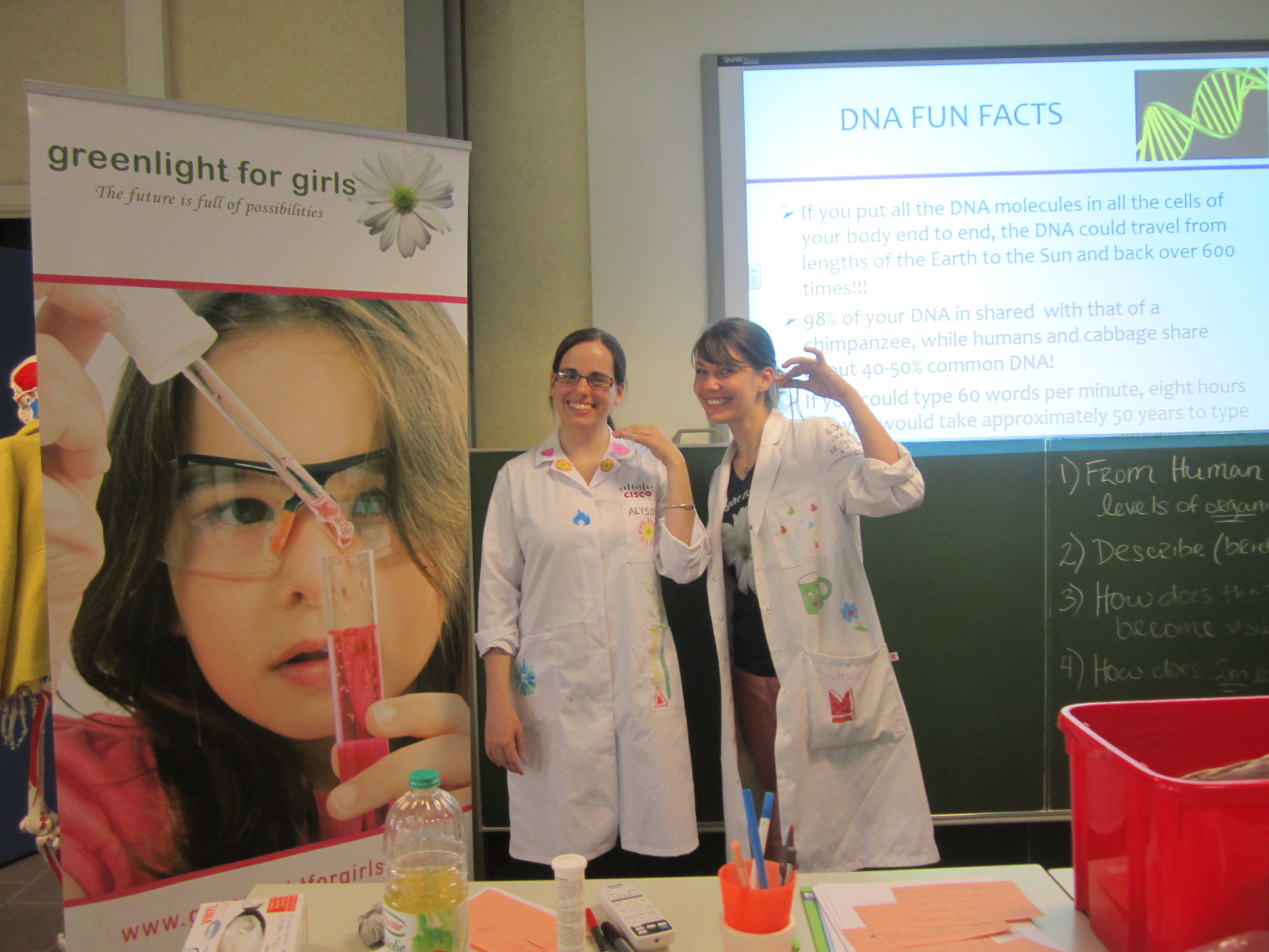 Alyson & Jelena showing off their own DNA!