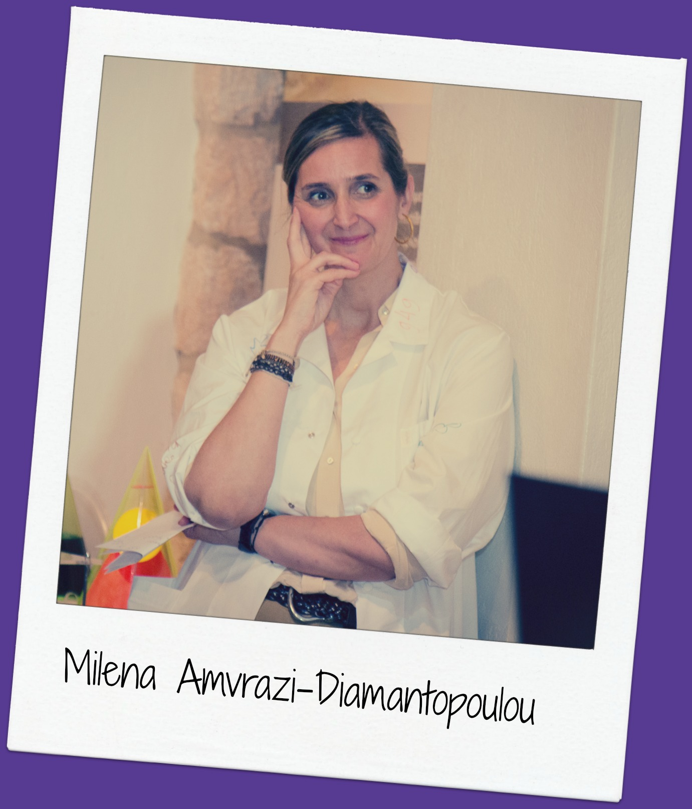 """Although her business field is in PR she is fascinated by science and wishes she could be a surgeon! She coordinates all of our activities in Athens, including our g4g Day events and our new """" g4g in the Museum """" project!"""