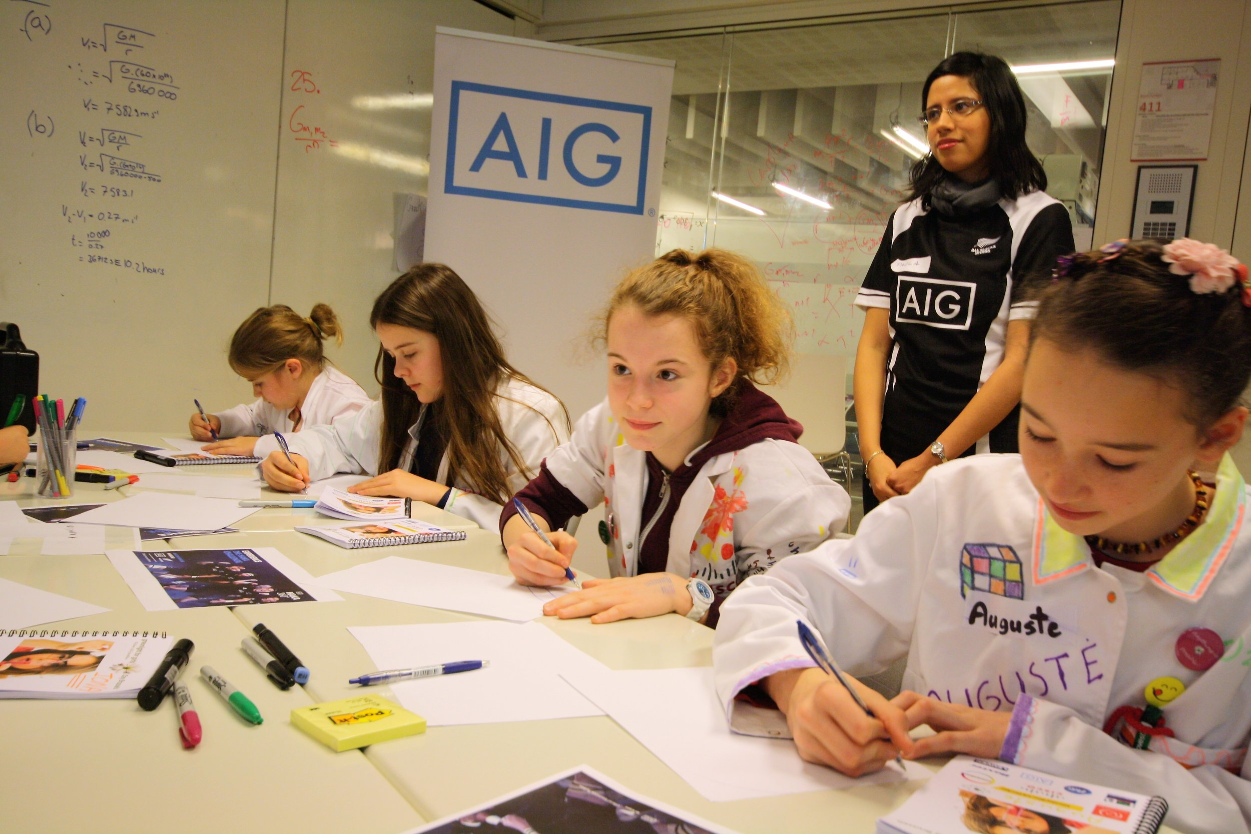 g4g Day @Guildford Nov. 2016    70 girls for a full day of STEM discovery held at Surrey University in Guildford while learning about M&M statistics, DNA, & virtual reality!  Click here for the video recap .