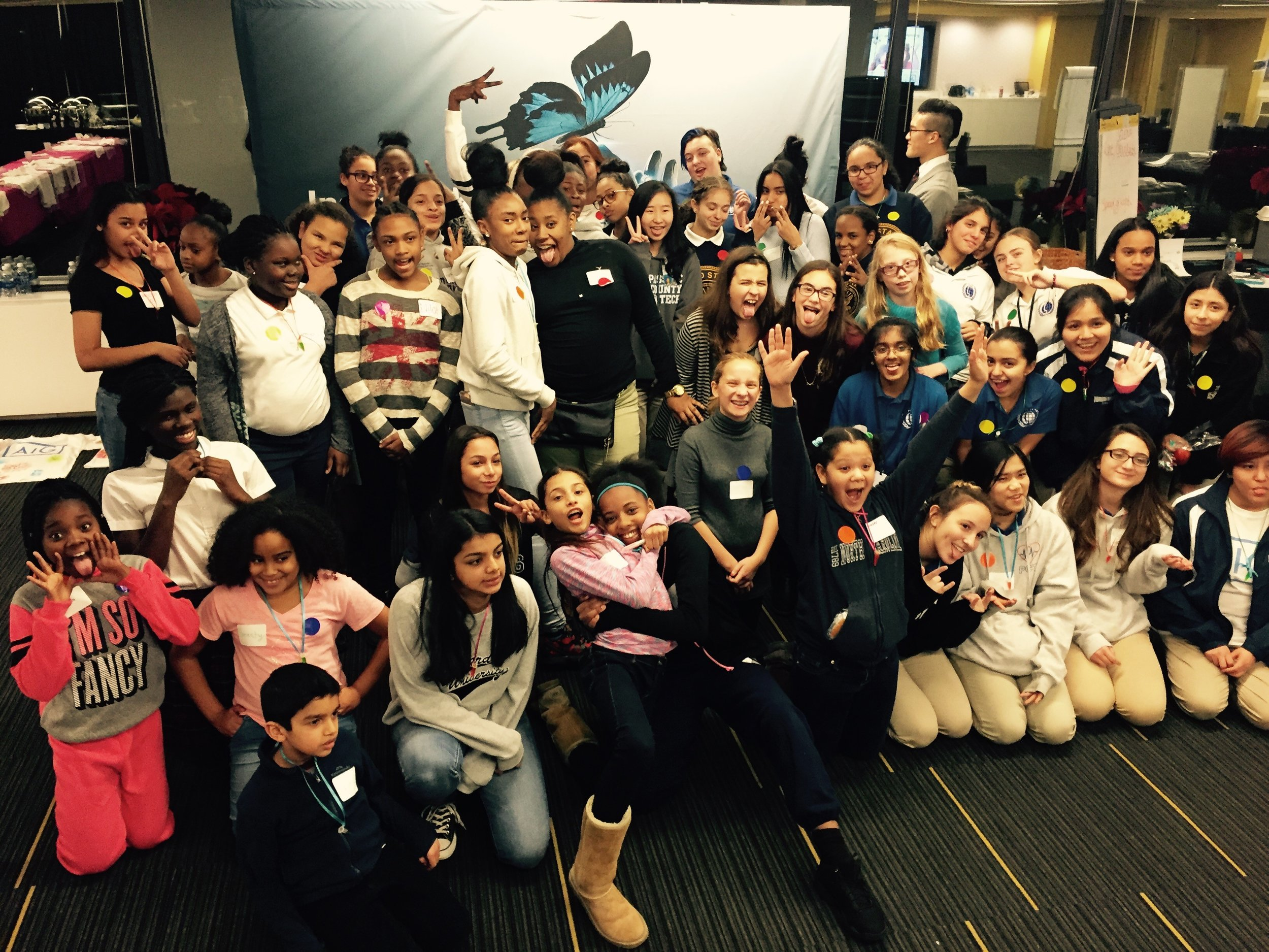 g4g @work with AIG in NYC Dec. 2016    The g4g team and the New York Chapter of AIG's Global Women in Technology (GWIT) hosted the first g4g@work event at AIG's NY headquarters for 50 girls.