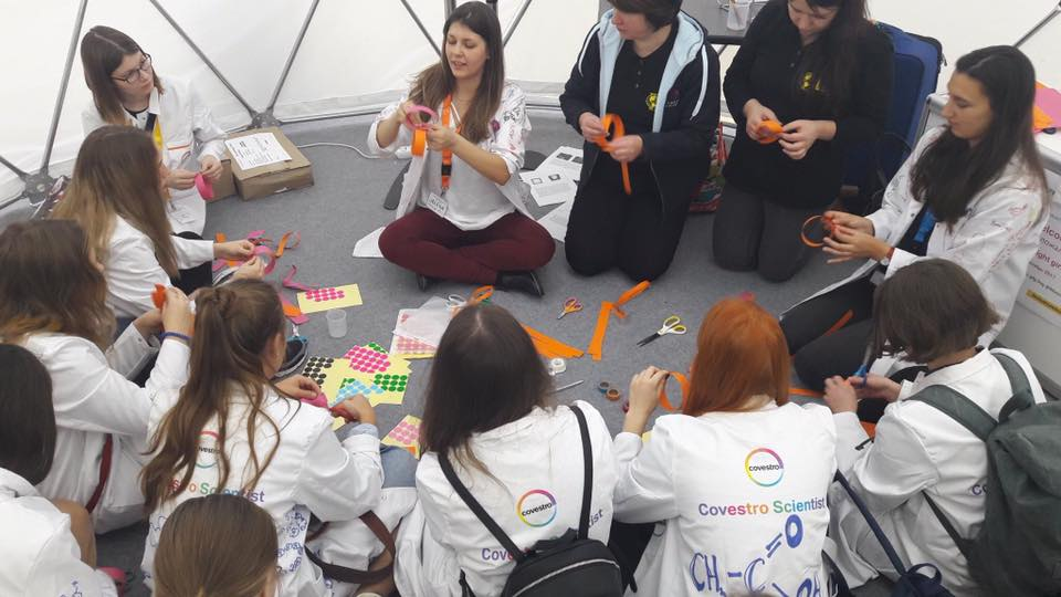 g4g Day @Moscow Oct. 2017    In October 2017, we teamed up with Covestro to organise a g4g Day in Moscow, in the context of the annual  Science Festival Nauki . 100 girls got the opportunity to experience everyday science and technology through fun workshops.