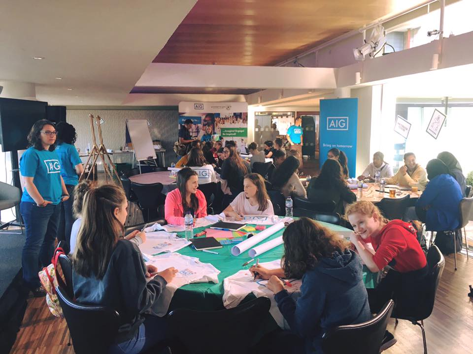 g4g Design Hackathon London Sept. 2017    We worked together to have our very first design Hackathon at the Southbank Centre in London. 60 girls proved that they are ready to begin innovating!