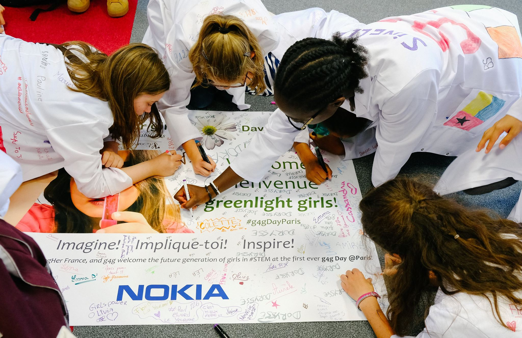 Launch g4g Day @Paris-Saclay Jun. 2017    We went to Paris in June, where 200 girls had a day filled with STEM workshops and activities. Not only did they learn tons of fun new things, in addition, these exciting things were taught by inspiring role models!