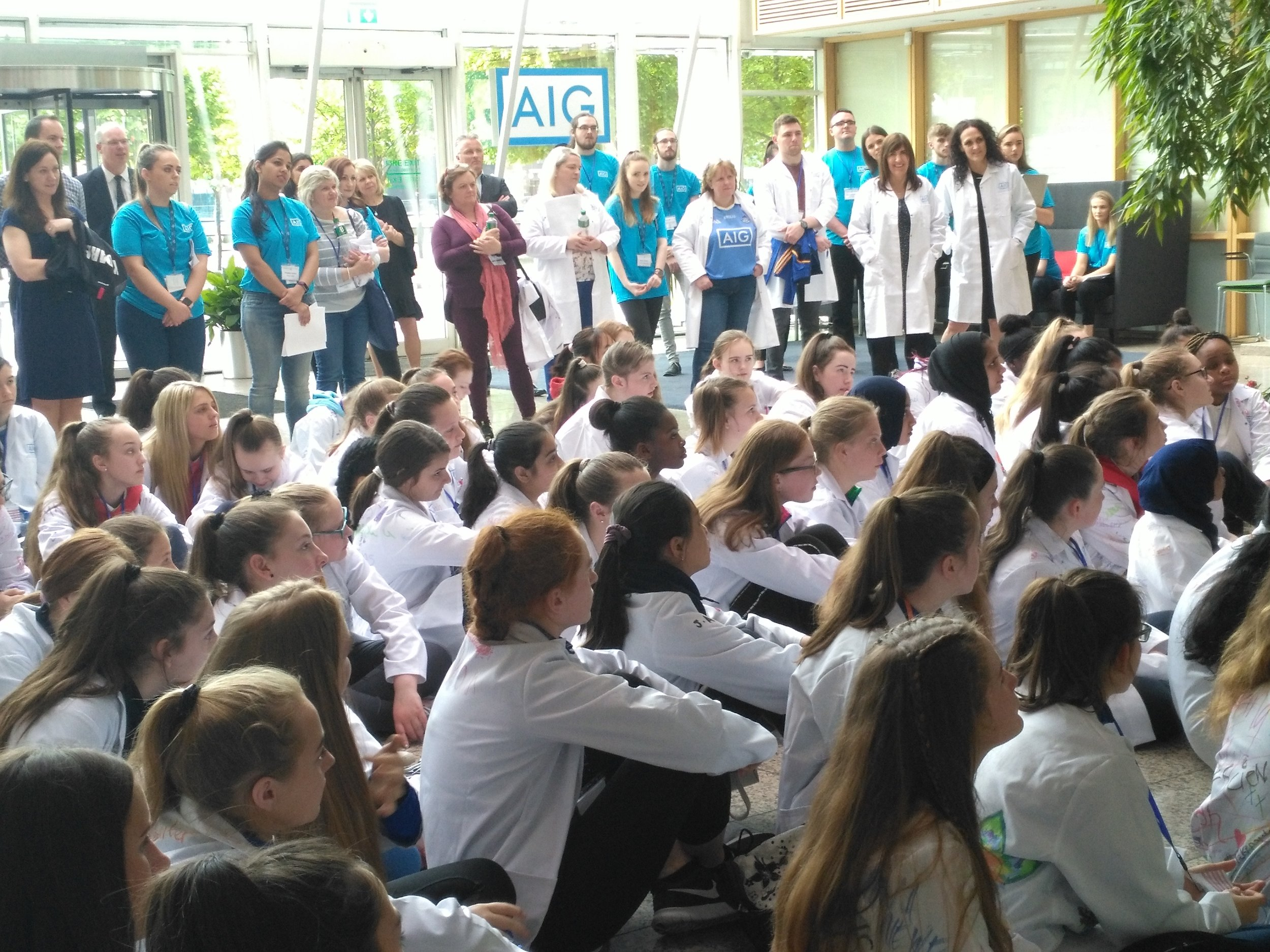 g4g@work at AIG in Dublin May 2018    In May we had an incredibly fun second event in Dublin, giving 85 girls the opportunity to discover the fun in STEM!