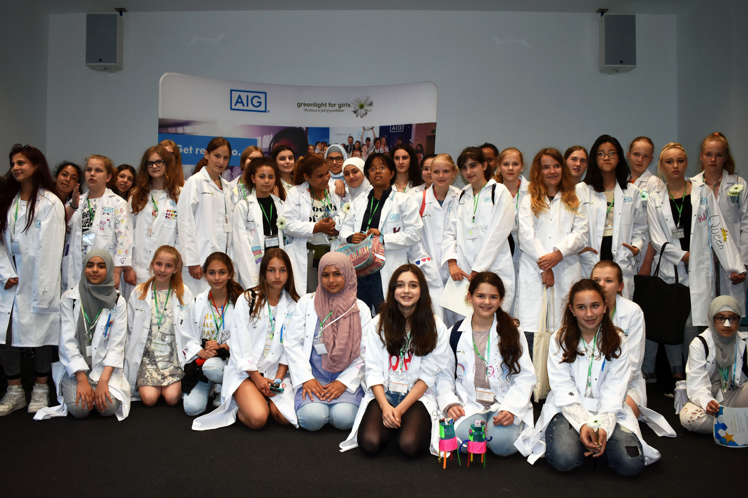 g4g@work Day at AIG in Frankfurt    - June 2018   On June 6, 2018, g4g and AIG partnered up to launch in the amazing Frankfurt, Germany! 50 girls enjoyed innovative workshops and discovered what cyber-security REALLY means!
