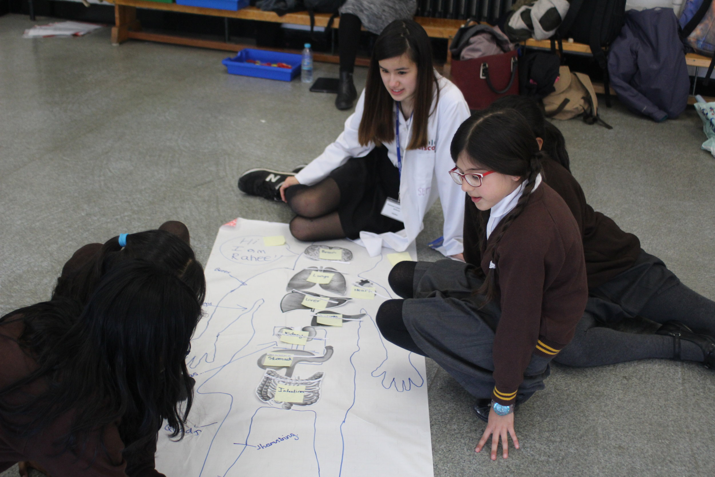 """The event she organized with the help of a team of """"science prefects"""" was made up of workshop focusing on 3 main areas, crumble zone, human biology and water."""