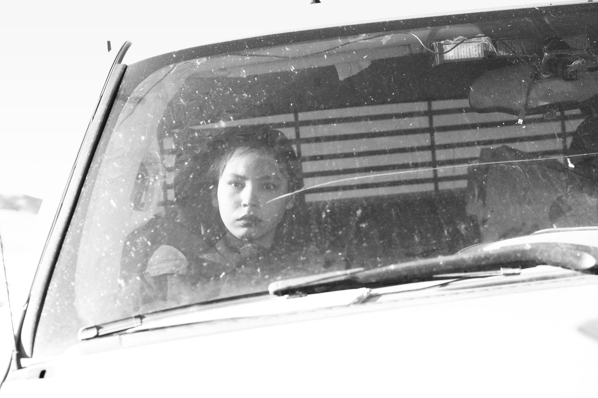 There is resilience in the eyes of this young water protector Destiny hailing from the Rosebud Sioux tribe of North Dakota. After two hours locked down to machinery constructing the Trans-Pecos pipeline, she was taken into custody by the Presidio County Police Department.