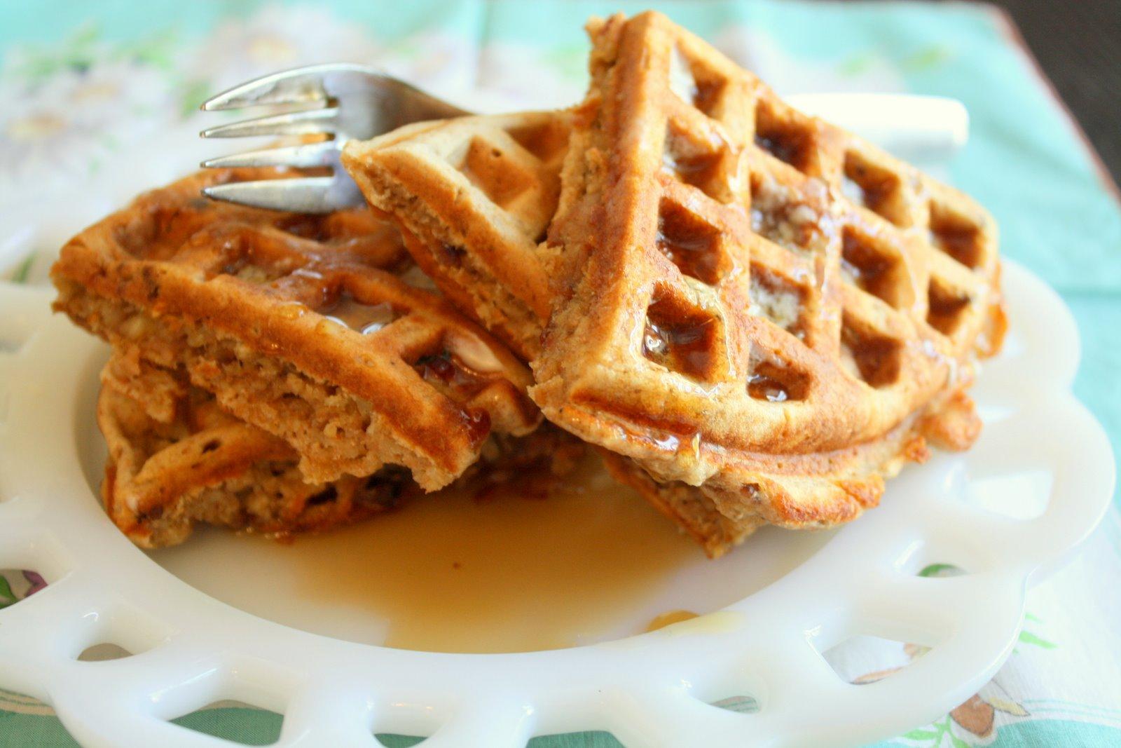 Oatmeal Nut Waffle Recipe