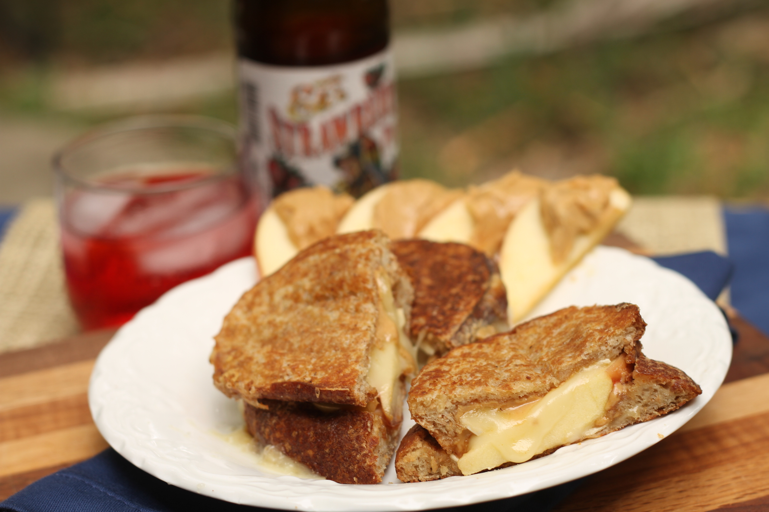 Brie Apple Honey Peanut Butter Grilled Cheese