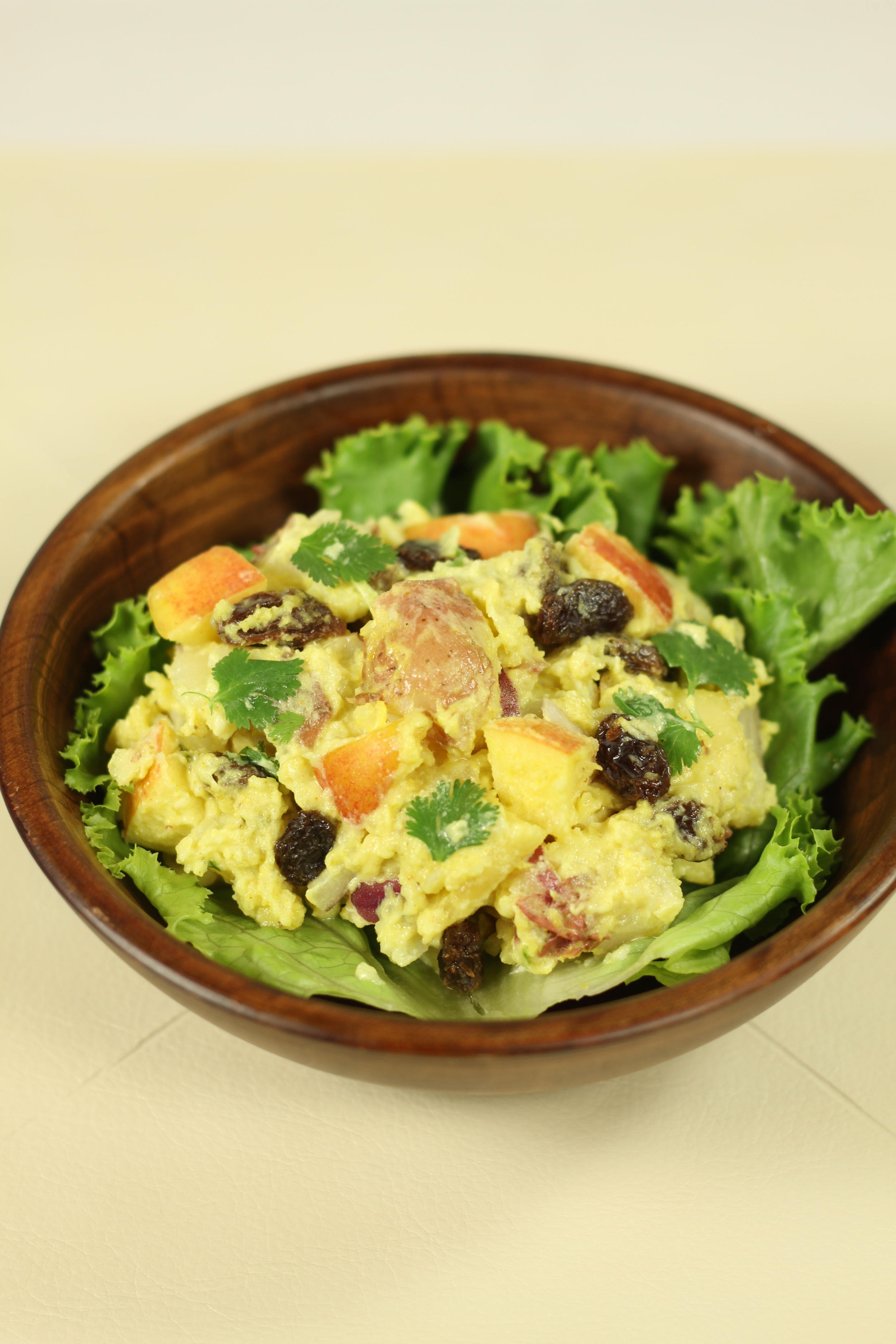 Delicious and fruit filled Curry Potato Salad