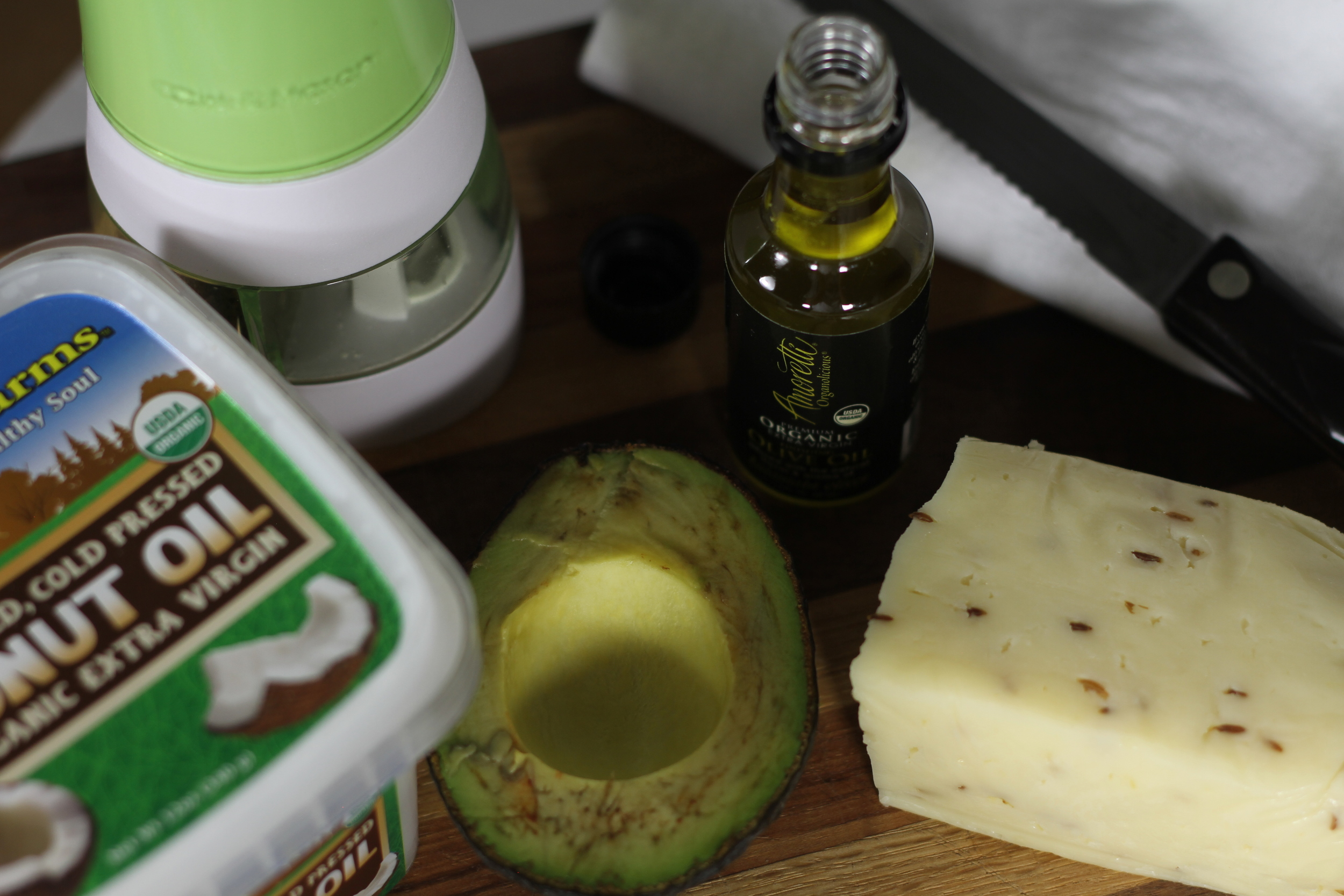 Avocado and Havarti Toast ingredients