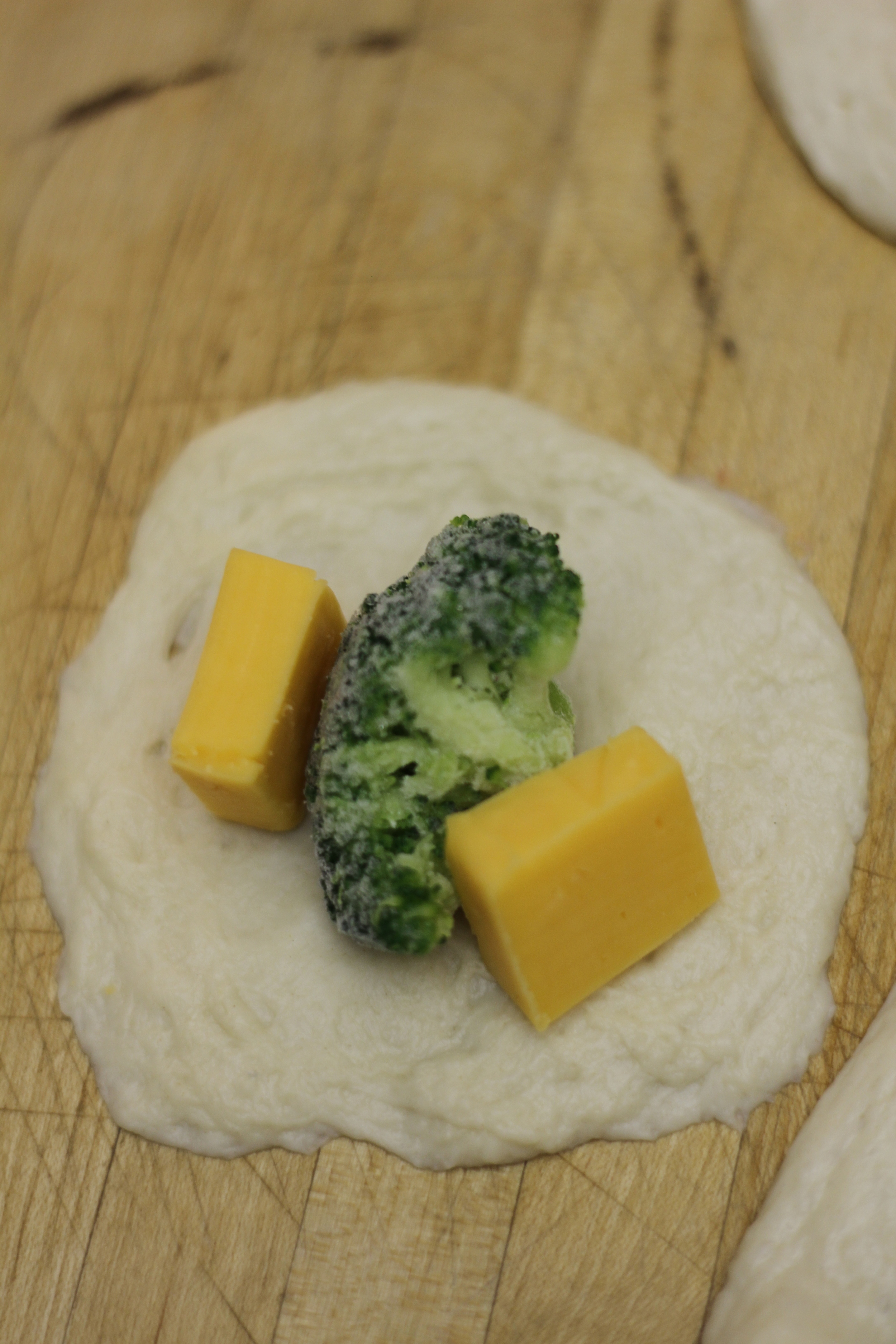 Broccoli and cheese filling for your bites.