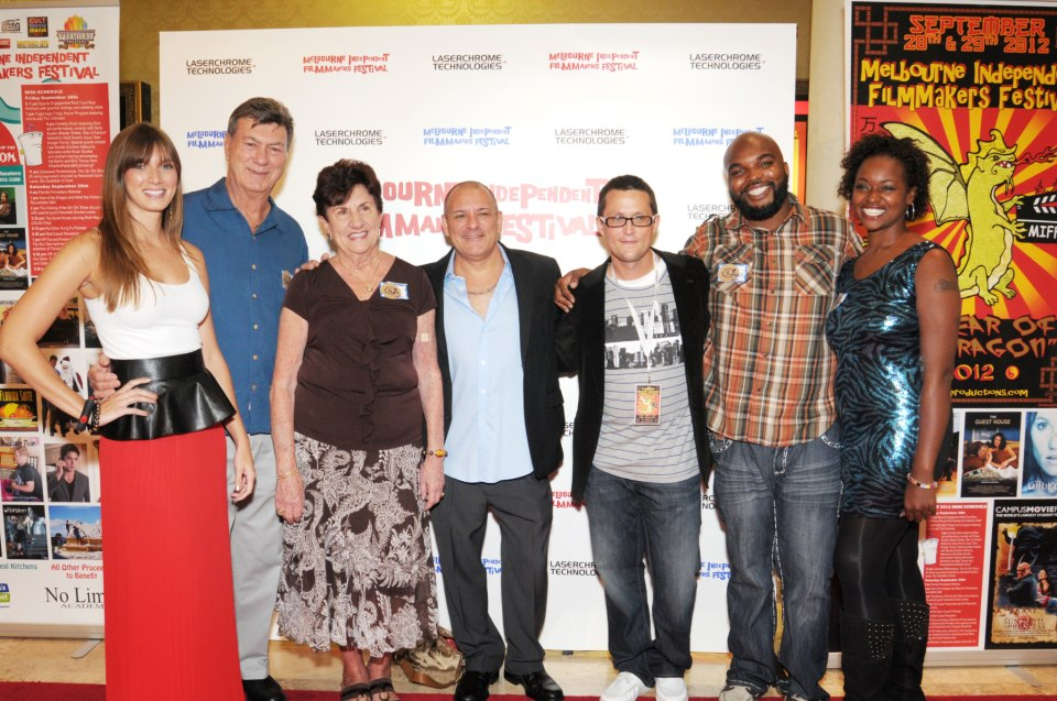 Producer Craig Chapman (5th from left), Host Shannon Royer (far left), and Chefs from Season 1 of Real Food Real Kitchens.