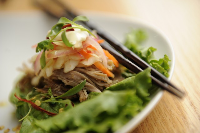 Lettuce Wraps with Roast Pork at the Epcot Food & Wine Festival