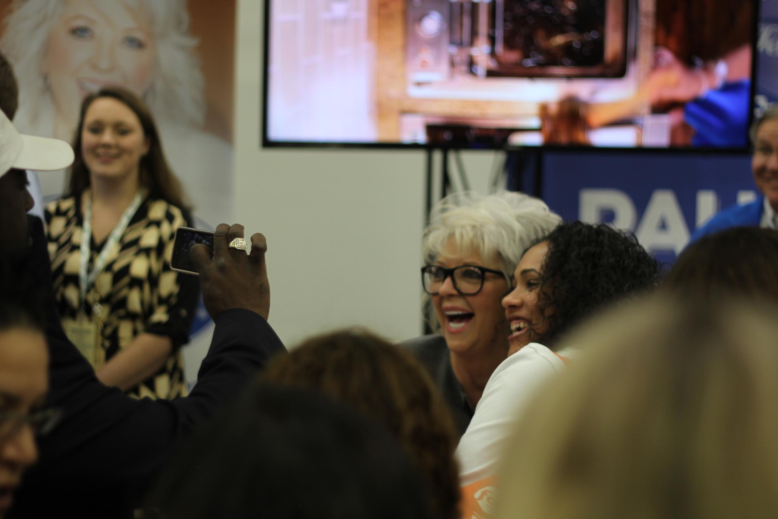 Paula Deen had the crowd going wild!