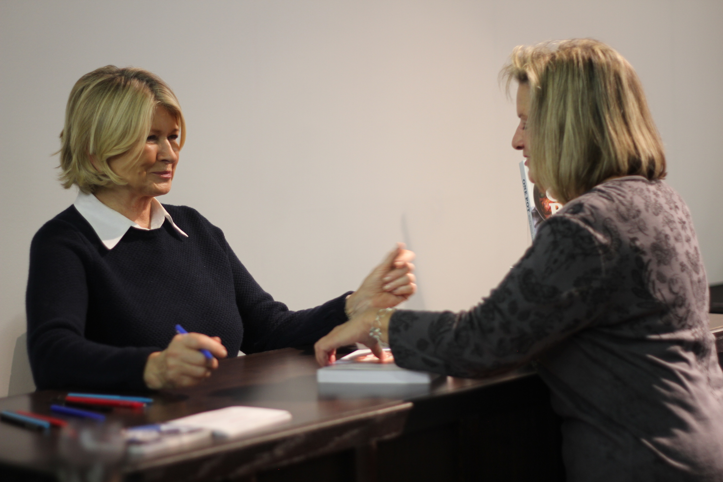 Martha Stewart signed her new book 'One Pot' for fans.