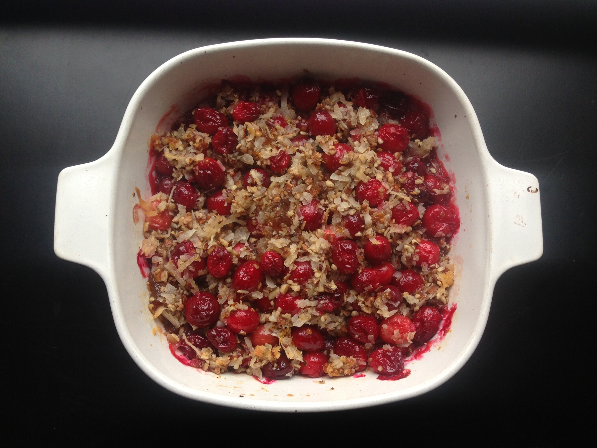 Coconut Pecan and Cranberry Dressing