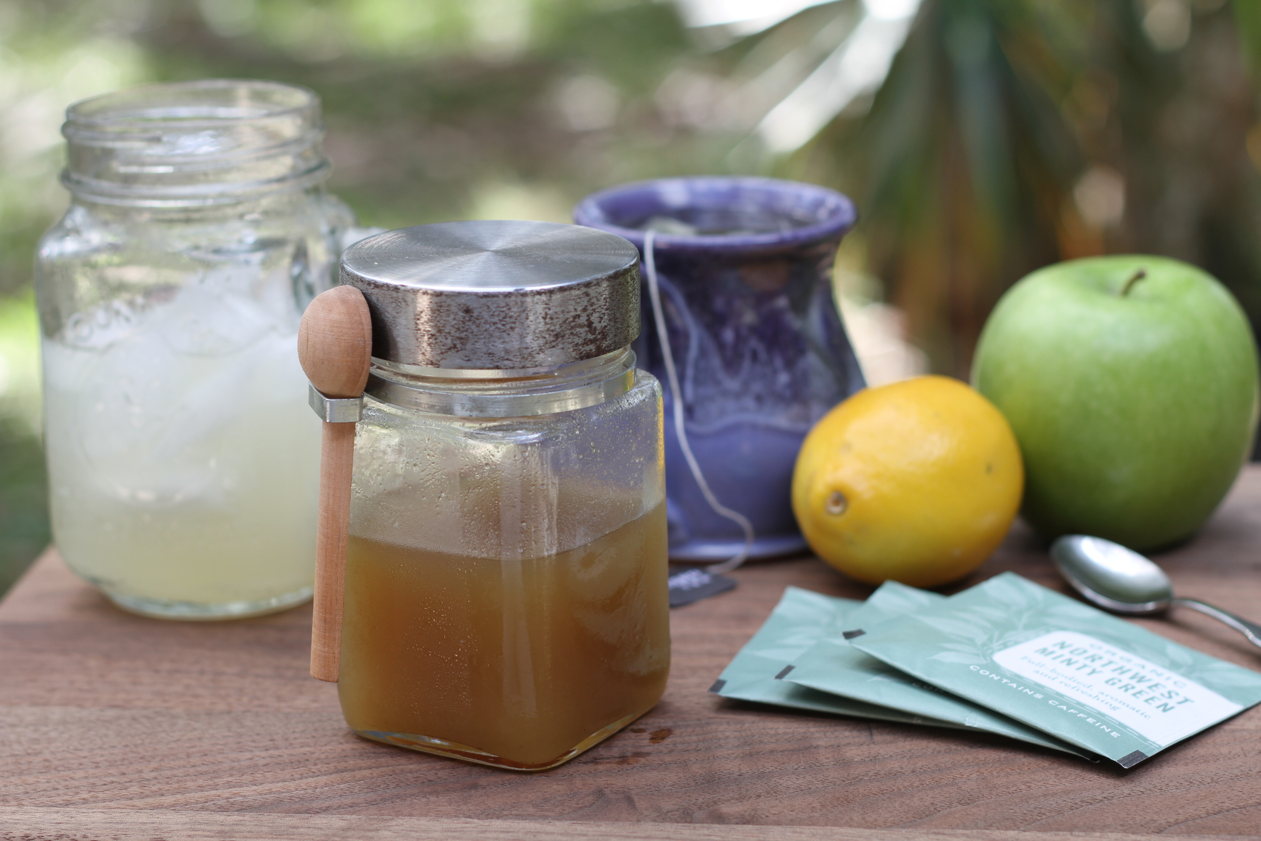 Ginger syrup, ginger tea, ginger soda.