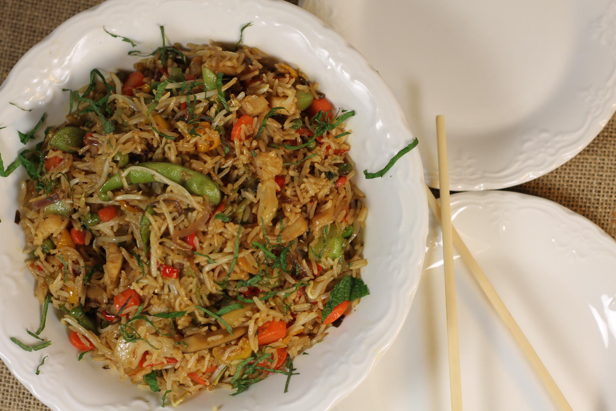 Sriracha Teriyaki Chicken with Vegetables and Rice