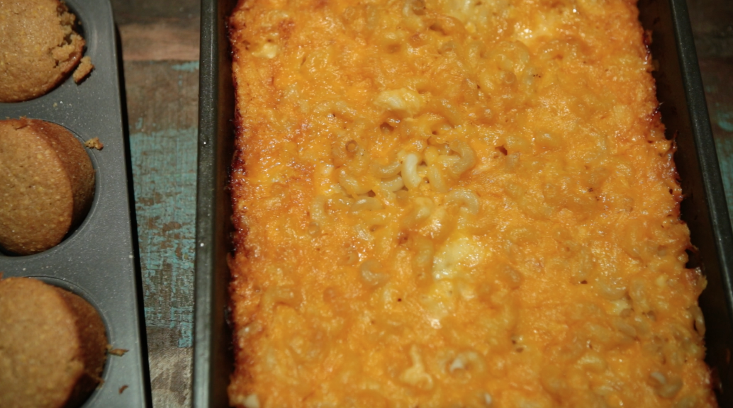 Mac n Cheese right out of the oven!