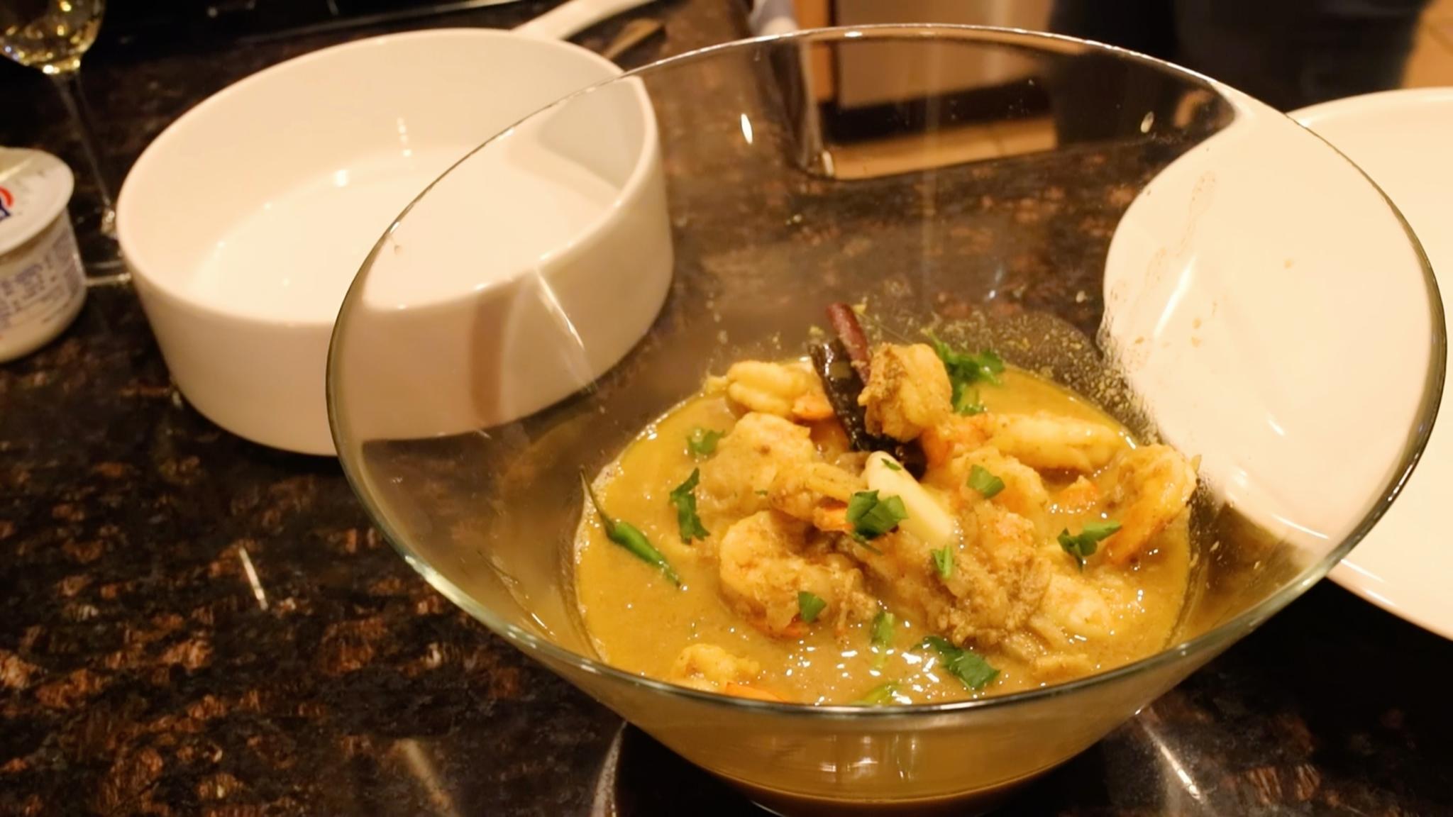 The final dish - Bengali Shrimp Curry.
