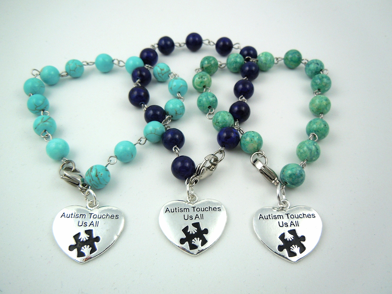 Gemstone Autism bracelets to raise awareness in a fashionable way.