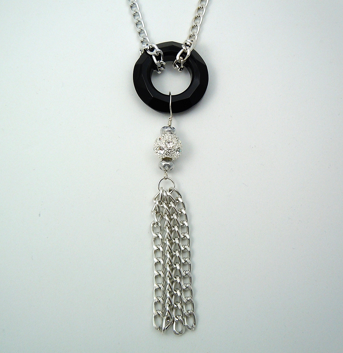 The silver version of my celestial crystal drop necklace